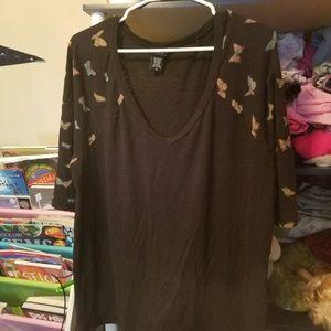 Torrid butterfly sleeve shirt 3/4 sleeve